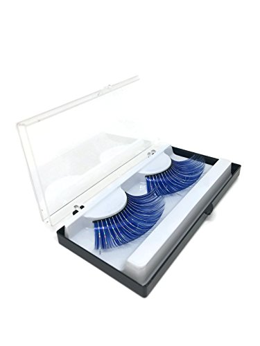 Pestañas postizas sintética para disfrazar, Color Azul