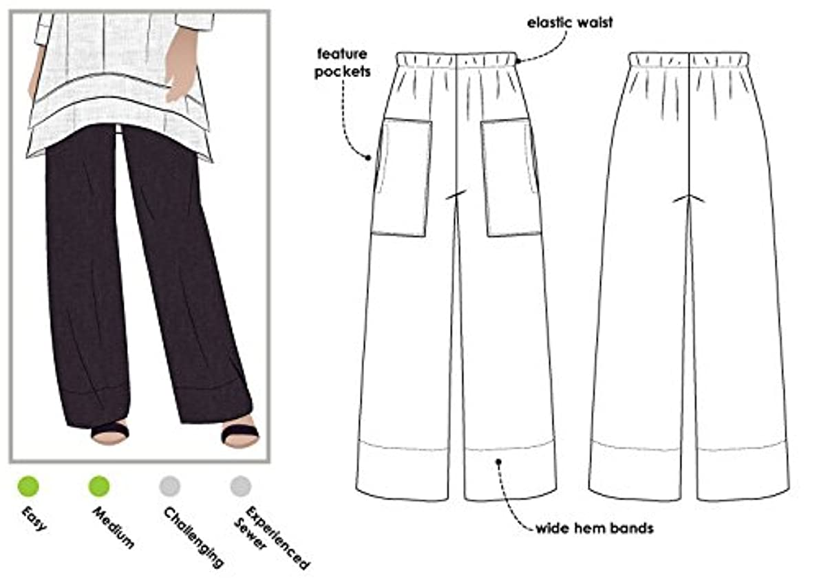 Style Arc Sewing Pattern - Daisy Designer Pant (Sizes 18-30) - Click for Other Sizes Available jzklmm8476