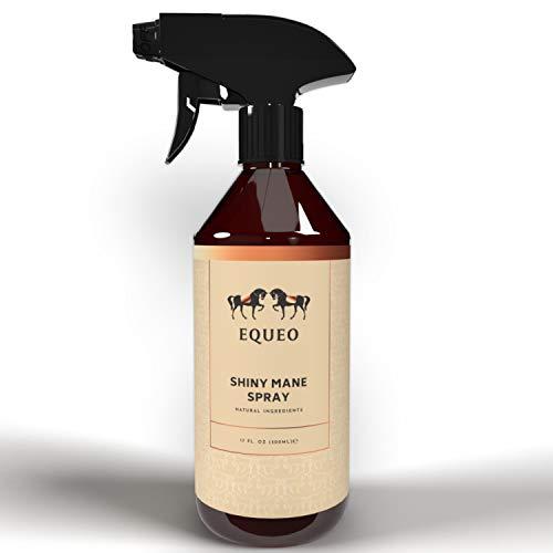 EQUEO Mähnenspray für Pferde Mähne - Shiny Mane Spray 500ml I Mähnenspray Pferd, Schweifspray für Pferde, Glanzspray Pferd, Fell Pflege, Pferde Fliegenspray I Natürliche Pferde Pflege Produkte