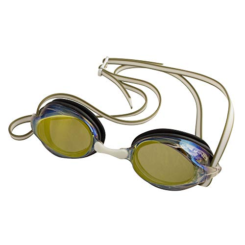 Finis Gold Mirror/White Tide Goggle, Unisex-Adult, One Size
