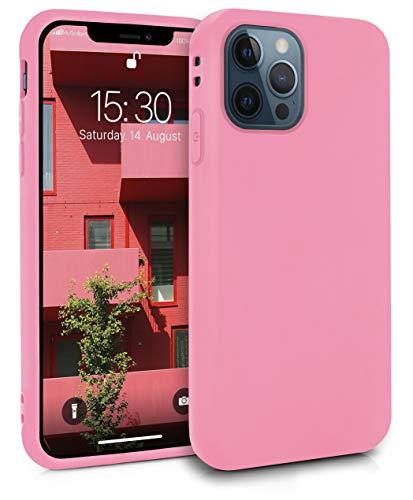 MyGadget Funda Slim para Apple iPhone 12/12 Pro en Silicona TPU - Resistente Carcasa Antichoque Flexible & Protectora - Friendly Pocket Case - Pink