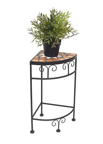 DanDiBo Blumenhocker Mosaik Eckregal 42 cm Blumenständer 12013 Beistelltisch Pflanzenständer Mosaiktisch Ecke