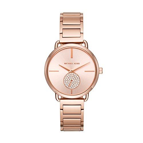 Michael Kors Women's Portia Rose Gold-Tone Watch MK3640