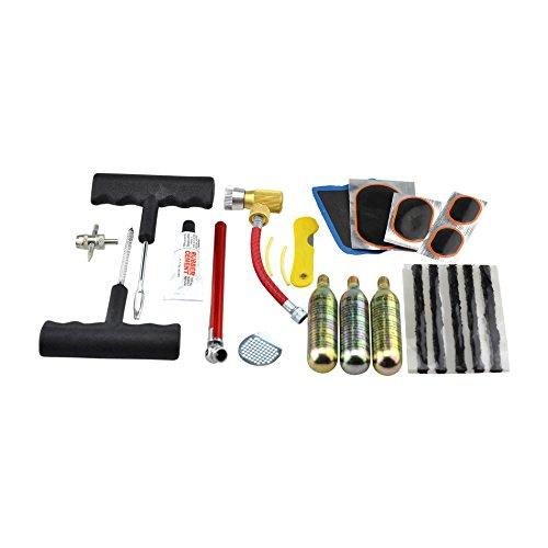 SATKIT Kit Reparacion Pinchazos A Gas C02 para Rueda Coche/Moto