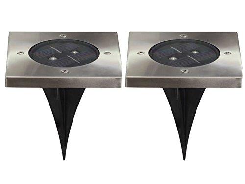 Ranex 2er-Set LED Solar Bodeneinbaustrahler TORINO, 4-eckig, IP44; 5000.406