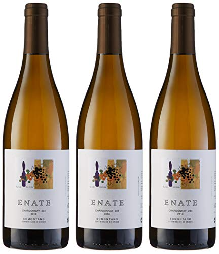 Estuche ENATE Chardonnay-234 2018 de 3 Botellas de 75 cl, Vino Blanco, DO Somontano
