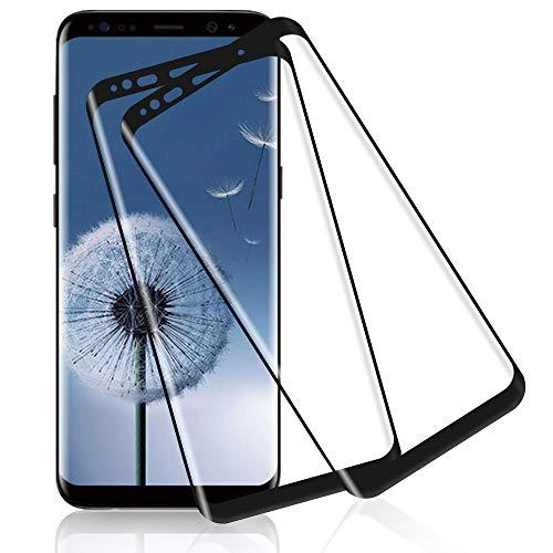 Bodyguard Panzerglas für Samsung Galaxy S8 Schutzfolie,3D Volle Abdeckung HD Folie Schutzglas,[9H Härte] Anti-Scratch, Anti-Fingerabdruck, Fallfreundlich Displayschutzfolie für Galaxy S8 [2 Stück]