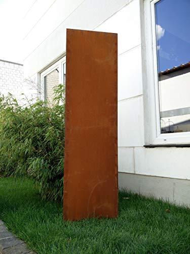 Zen Man Edelrost Garten Sichtschutz aus Metall Rost Gartenzaun Gartendeko edelrost Sichtschutzwand H150*50cm 031506-2