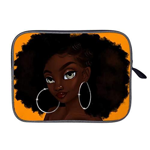 Black Art African American Women Girl Afro Earring Laptop Bag Carrying Handbag Working Computer Bag Fit 13inch inch Compatible Ultrabook,Lenovo Dell,MacBook Pro,MacBook Air