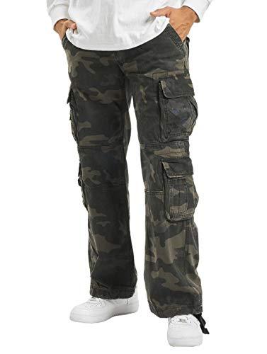 Brandit Pure Vintage Homme Cargo Pantalon - Camouflage Sombre, M