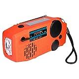 YZX Solar Manivela Radio de Emergencia, Multifuncional portátil FM/Am El Tiempo de difusión, con Linterna LED SOS de Alarma móvil de la energía de Carga(14.8×6.8×4.5cm)