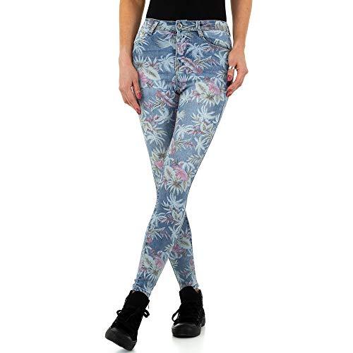 Ital Design Damen Print Skinny Jeans Laulia Gr. L/40 Blau