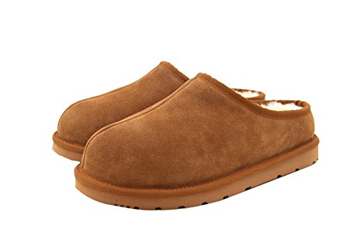 SUPERLAMB Ladies Sheepskin Hard Sole Clog Slippers (9)