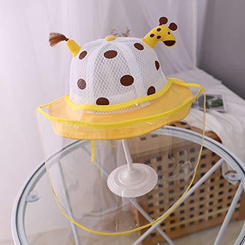 FUFU Gorros de aviador Bebé sombrero for el sol con careta desmontable UV Borrar Visor de ala ancha for el casquillo del cubo for Niños anti niños Baba prueba de salpicaduras Pescador sombrero al aire