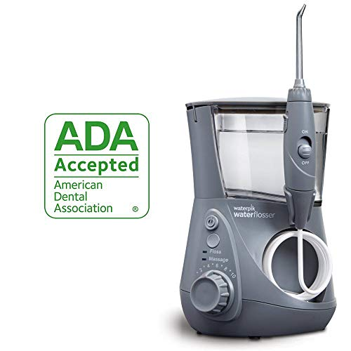 Waterpik Water Flosser Electric Dental Countertop Professional Oral Irrigator For Teeth, Aquarius, WP-667 Modern Gray