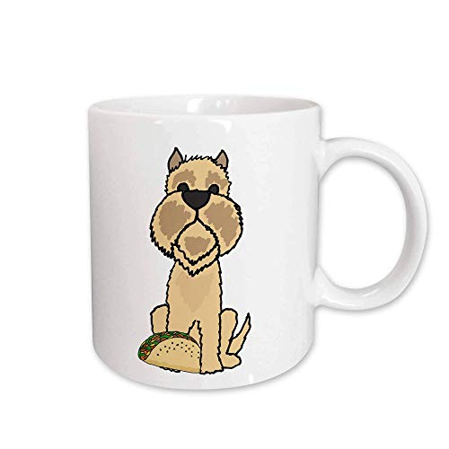 Funny Cute Brussels Griffon Puppy Dog Eating Taco Food Cartoon Mugs Mug_326727 YM7OM8