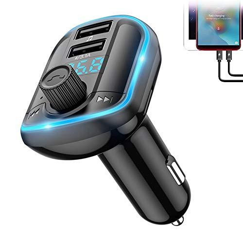 Trasmettitore FM Bluetooth Auto Bluetooth per Auto Vivavoce Trasmettitore Bluetooth per Auto LED Controluce 2 Porte USB Scheda SD di Supporto