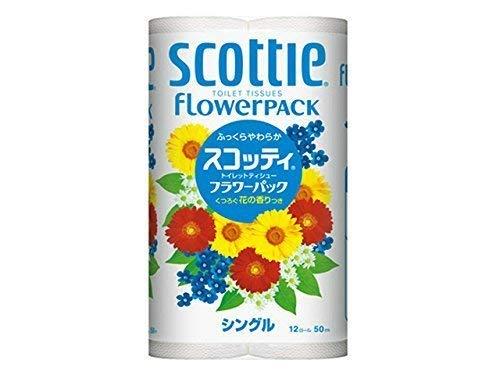 日本製紙クレシアスコッテイフラワーパツク50M×12ロールS×8点セット (4901750152604)