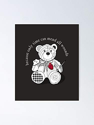 MCTEL Scp-2295 The Bear with A Heart of Patchwork SCP Foundation Poster 12x16 Inch No Frame Board for Office Decor, Best Gift Dad Mom Grandmother and Your Friends