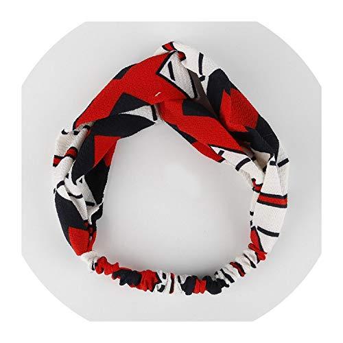 Einfaches Böhmen Armbrust Patchwork-Frauen-elegante elastische Stirnband-Haar-Halter-Verzierung Bandanas Haarschmuck,03
