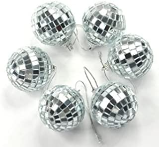 Cosmos ® 6 pcs 1.8 Inch Disco Ball Mirror Party Christmas Xmas Tree Ornament Decoration with Cosmos Fastening Strap