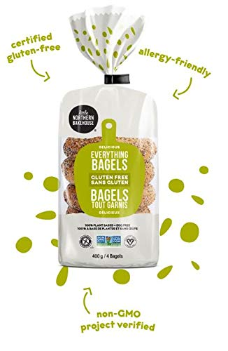 Little Northern Bakehouse Non-GMO Gluten Free Bagels 14 ounce (Pack of 6) (Everything)