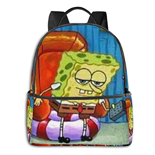Aight Imma Head Out Spongbob Travel Laptop Backpack Student School Bag Daypack