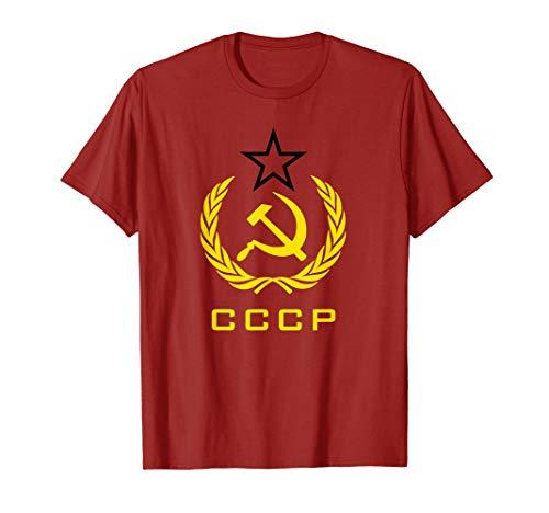 CCCP Hammer Sichel T-Shirt sowjetischen Russland Tee