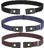 Cinturón elástico sin hebilla de 3 piezas Cinturón sin hebilla Cinturón...