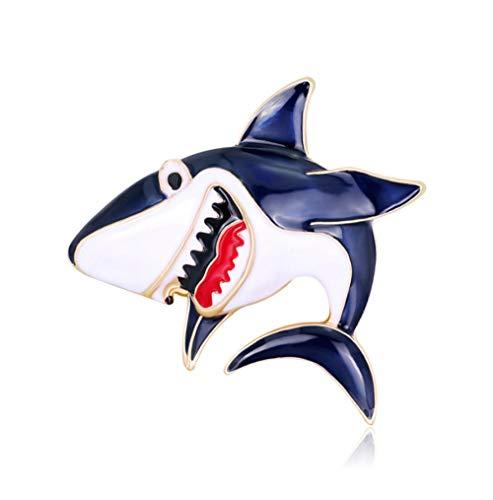 N\A Women's Vintage shark Brooch Enamel glaze craft Pins Corsage Decoration Jewelry