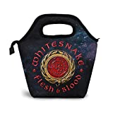 DJNGN Whitesnake Flesh & Blood Lunch Bag Borsa termica riutilizzabile Lunch Bag Borsa da pranzo portatile Borsa da pasto Ice Pack per ragazzi Ragazze Donne adulte
