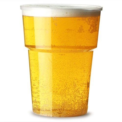 Katerglass verres en plastique Pinte 22 oz doublé et marquage CE au 20 oz/Lot de 25 gobelets jetables à bière en plastique, verres en polypropylène