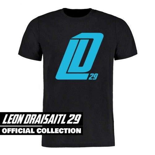 Scallywag® Eishockey T-Shirt Leon Draisaitl Dickes LD29 schwarz I Größen XS - 3XL I A BRAYCE® Collaboration (offizielle LD29 Kollektion vom NHL Edmonton Oilers Star) (L)