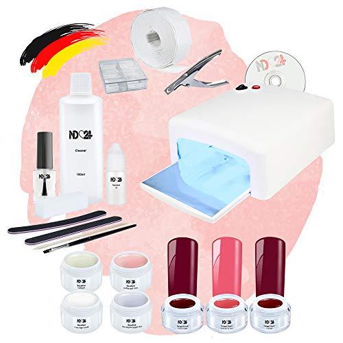 Nagelstudio Starter Set UV Premium Mit Allem Zubehör + Sweet Cherry Gele Made in Germany