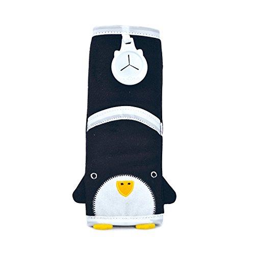 Trunki Coussin Sangle pour Ceinture de Sécurité Enfant – SnooziHedz Pippin le Pingouin (Noir)