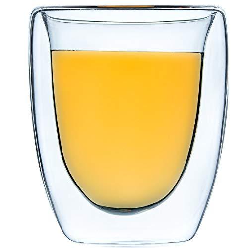 Tasse Verre Thé Double Paroi - Pack De 6 Tasses - Tasse A Café Isolée - 6 70 Ml