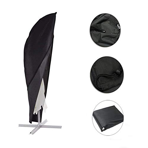 KINGBOO Protective Parasol Cover 420D Oxford Fabric Cantilever Outdoor Waterproof Dust-proof Umbrella Cover