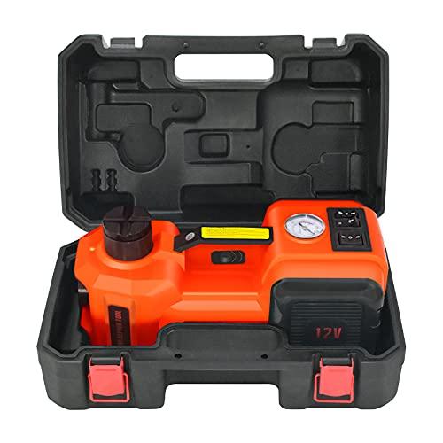 WOKEZ Car Jack Hydraulic 5 Ton 12V Electric Car Jack Kit with Inflator Floor Jack for Car SUV Sedan MPV Change Tires Garage Repair Emergency Kit