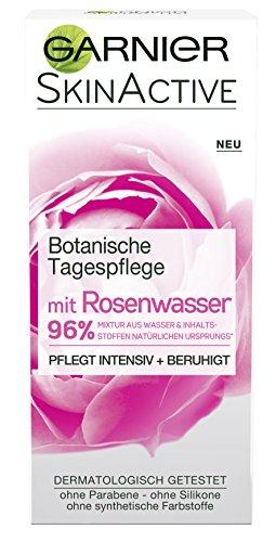 Garnier Botanische Tagespflege, mit Rosenwasser, pflegt intensiv und beruhigt, für sensible und trockene Haut, 2er-Pack (2 x 50 ml)