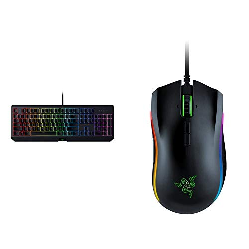 Razer BlackWidow Mechanical Gaming Keyboard & Mamba Elite Wired Gaming Mouse: 16,000 DPI Optical Sensor - Chroma RGB Lighting - 9 Programmable Buttons - Mechanical Switches