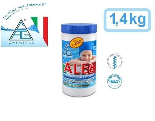 GrecoShop Chloorpastiglion/tabletten 200 g 6 acties voor zwembad, piscine 1,4 kg C.A.G Chemical - ALE6