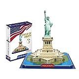 Rompecabezas 3D Estatua de los Estados Unidos de la Libertad 8-10-12 años DIY DIY Puzzle para niños Insertar Modelo Mejor Regalo
