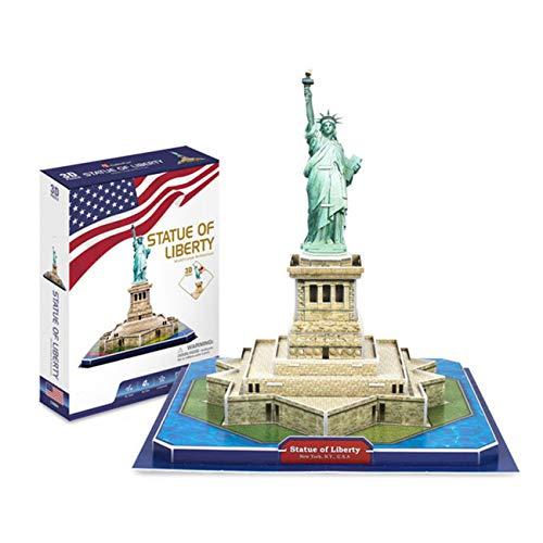 3D Puzzles Vereinigte Staaten Statue der Freiheit 8-10-12 Jahre alt DIY Kinder Puzzle Insert Papier Modell