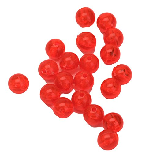 Eagle Claw A8BEAD20R Plastic Beads, 8 mm, Red, 20 Piece