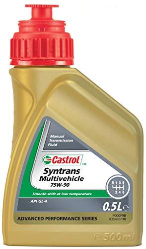 Schaltgetriebeöl 75W-90 Syntrans Multivihicle (500 ml) Hinten von Castrol (1502EF) getriebeöl