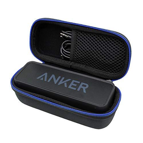 Duro Viaje Estuche Bolso Funda para Anker SoundCore&SoundCore 2 Altavoz Bluetooth Portátil, Altavoz inalámbrico Impermeable por GUBEE (Negro)