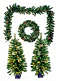PULEO ASIA LIMITED 236-TW8209/6 Pre-Lit Christmas Greenery Set, 5-Pc. - Quantity 1