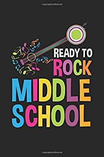 Ready to Rock Middle School: Middle School Music Teacher Musician Dot Grid Notebook 6x9 Inches - 120 dotted pages for notes, drawings, formulas | Organizer writing book planner diary