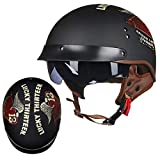 QYHT TOCR Summer Moto Retro Casque, Casque Fashion Harley, Dot, ECE, CNS, Certification de...
