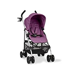 Stroller is designed for a child up to 50 lbs  1-hand comfort tilt recline 5-point harness with covers  Extra-large canopy with extensions Accepts Sonti Infant Car Seat (adapters included)  Car seat attachment method: tower Reversible stroller seat: ...